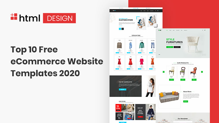 Top 10 Free Ecommerce Website Templates 2020