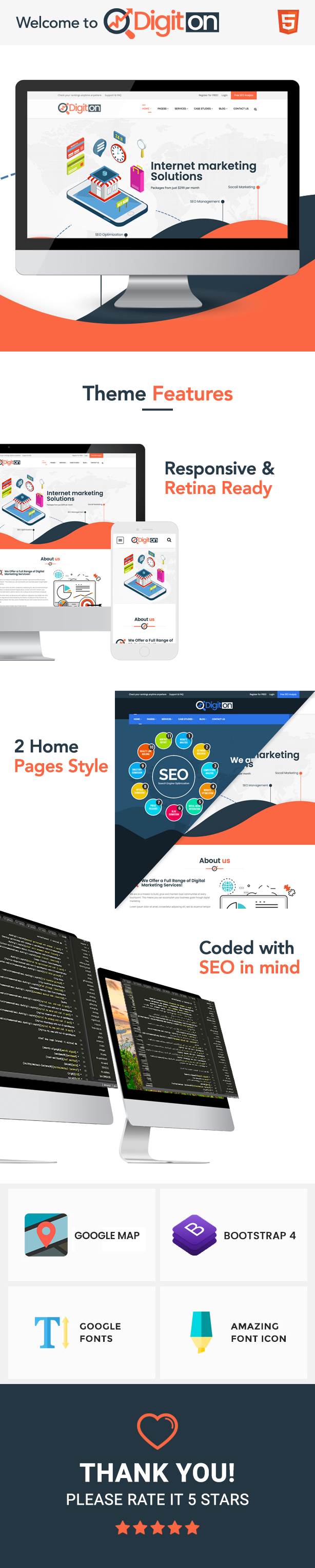 Digiton - SEO and Digital Agency HTML Template - 1