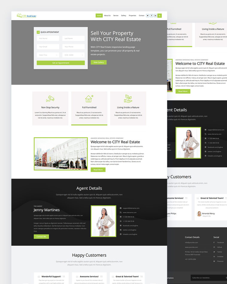 Real Estate Landing Page Template Free from html.design