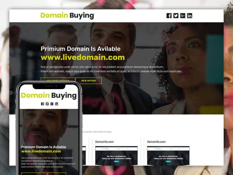 Domain Buying Free Domain Sale Website Template