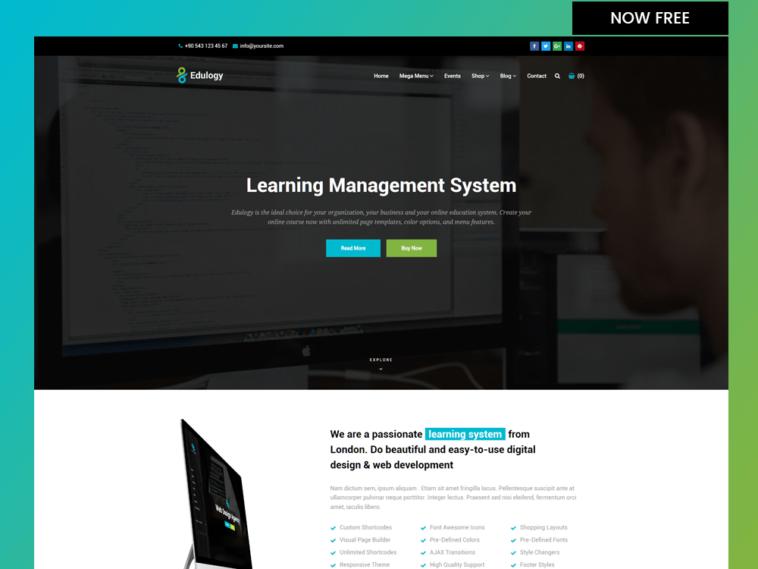 Edulogy – Free Online University Responsive Template