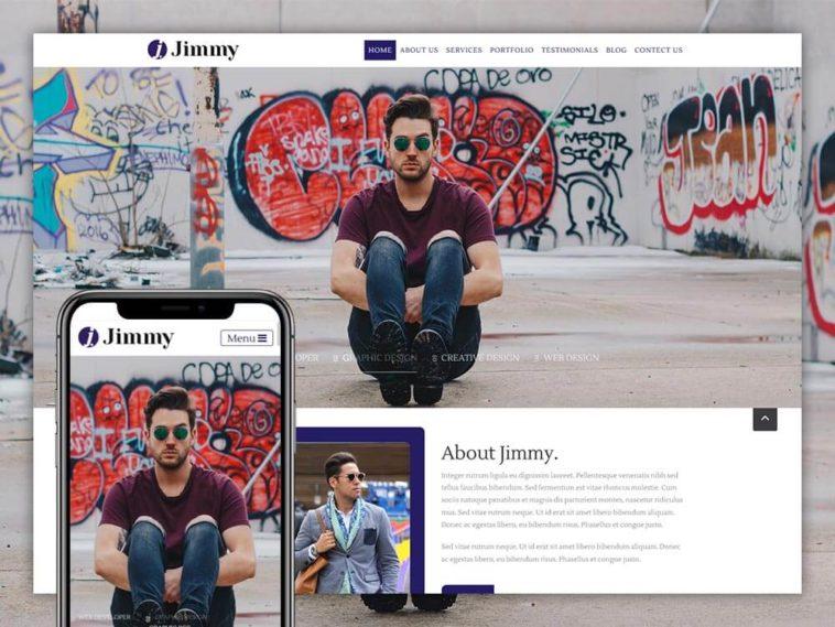Jimmy – Free OnePage Personal Portfolio Template