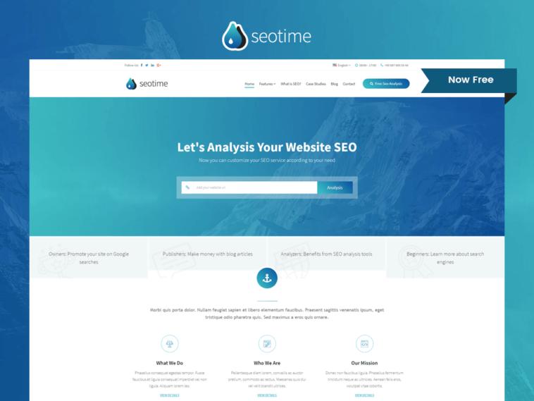 SEOTime – Free SEO Company Responsive Website Template