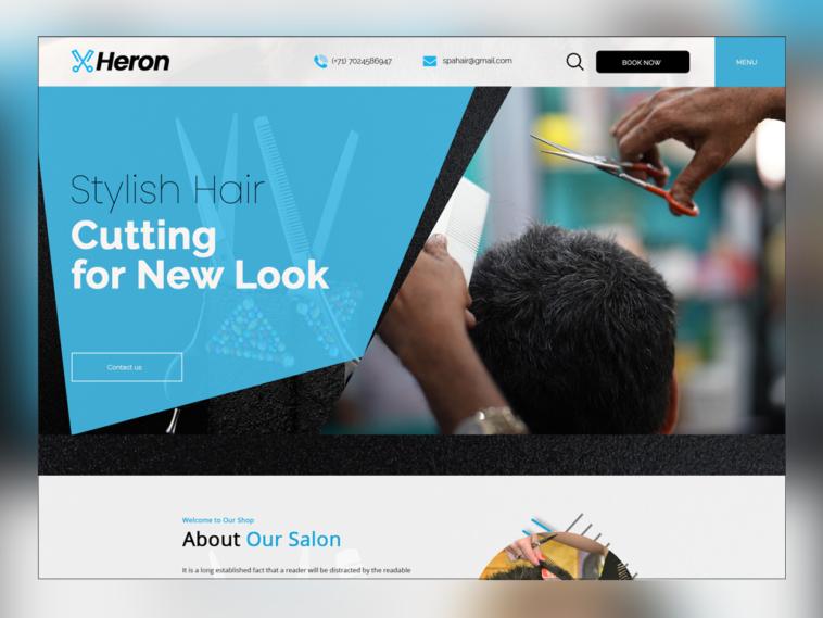 Heron , Free Hair Salon PSD Template