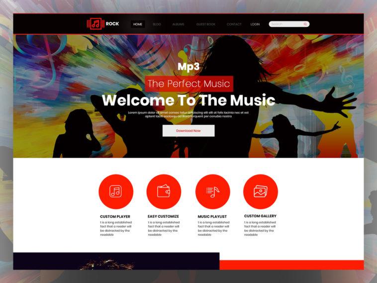 Rock - Free Music PSD Template