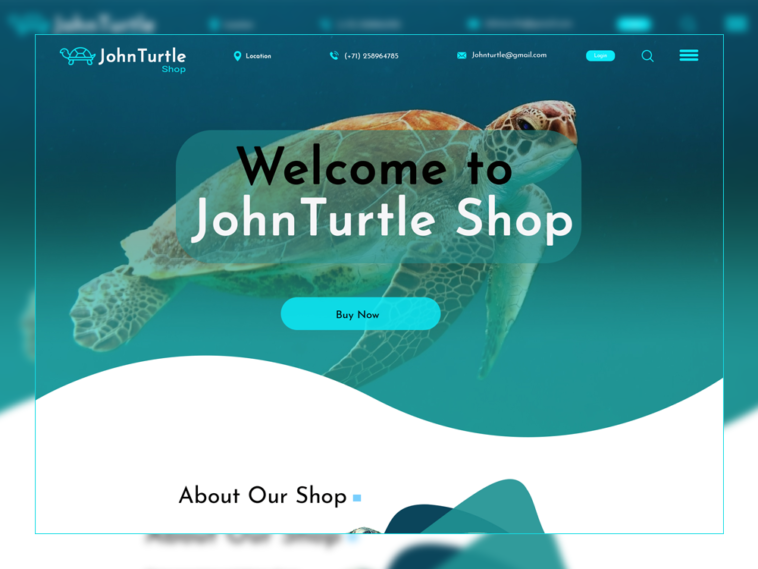 Turtle Shop PSD Template