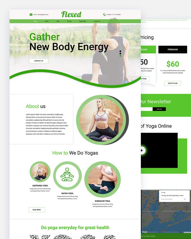 Flexed – Free Yoga HTML Template
