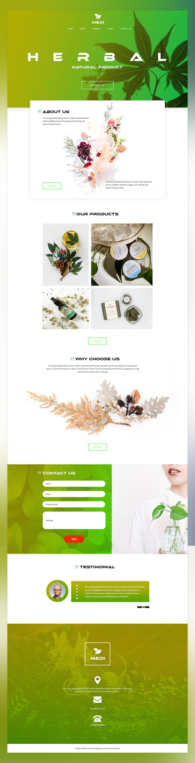 Medi herbal product psd template