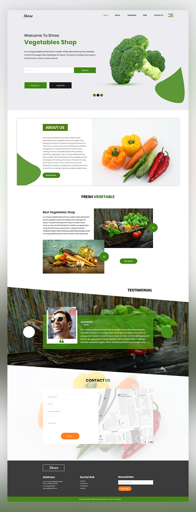 Shree Vegetable Shop psd template