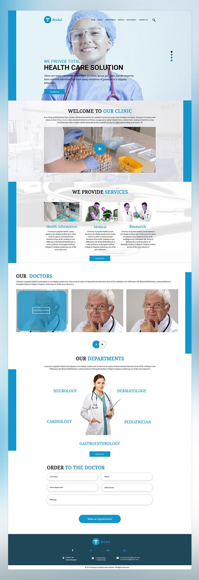 Bridal health care psd template
