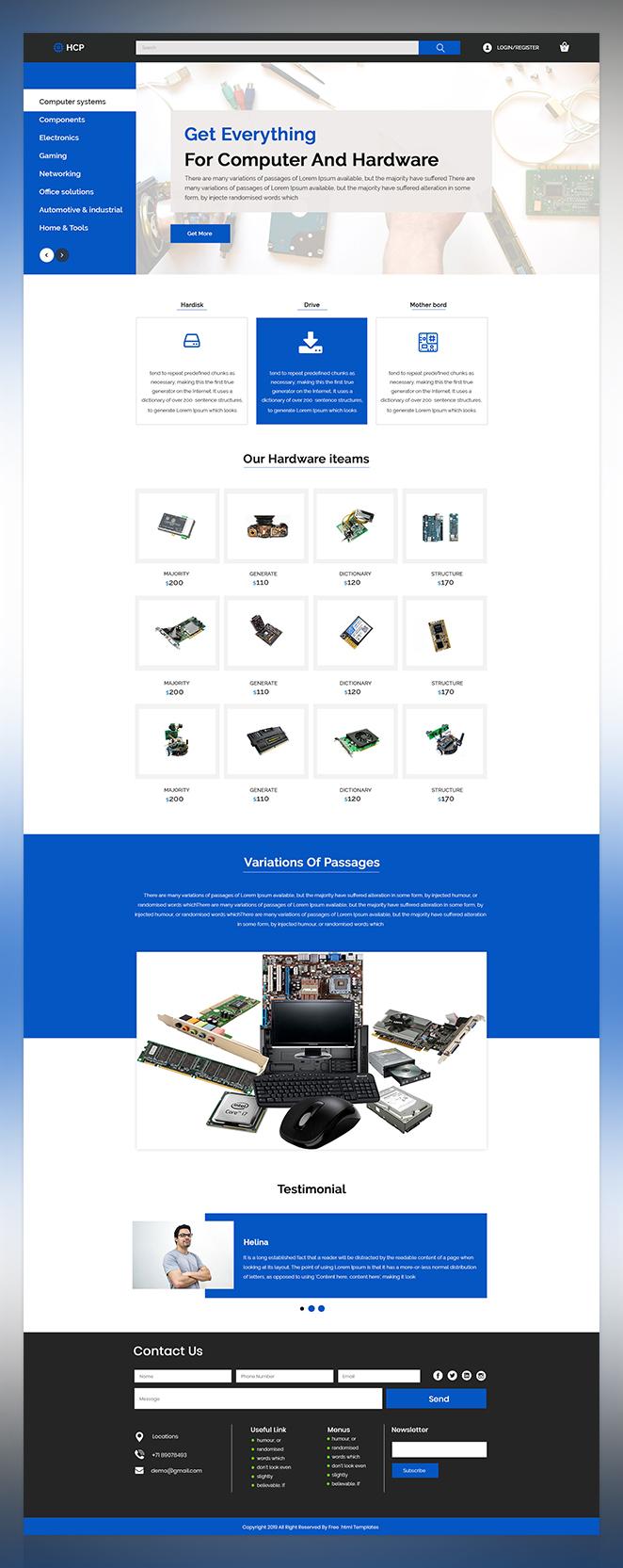 HCP computer shop psd template
