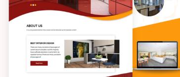 Interior Design PSD Template Free