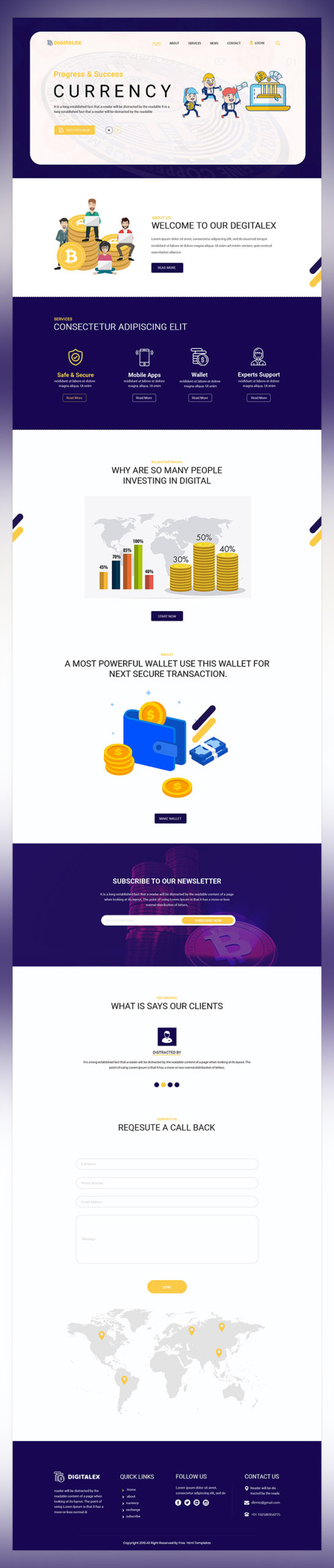 Digitalex currency psd template