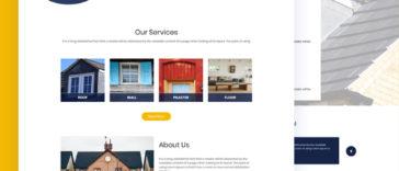 Home Repair PSD Template Free