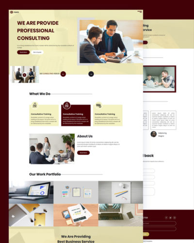Consulting PSD Template Free Download