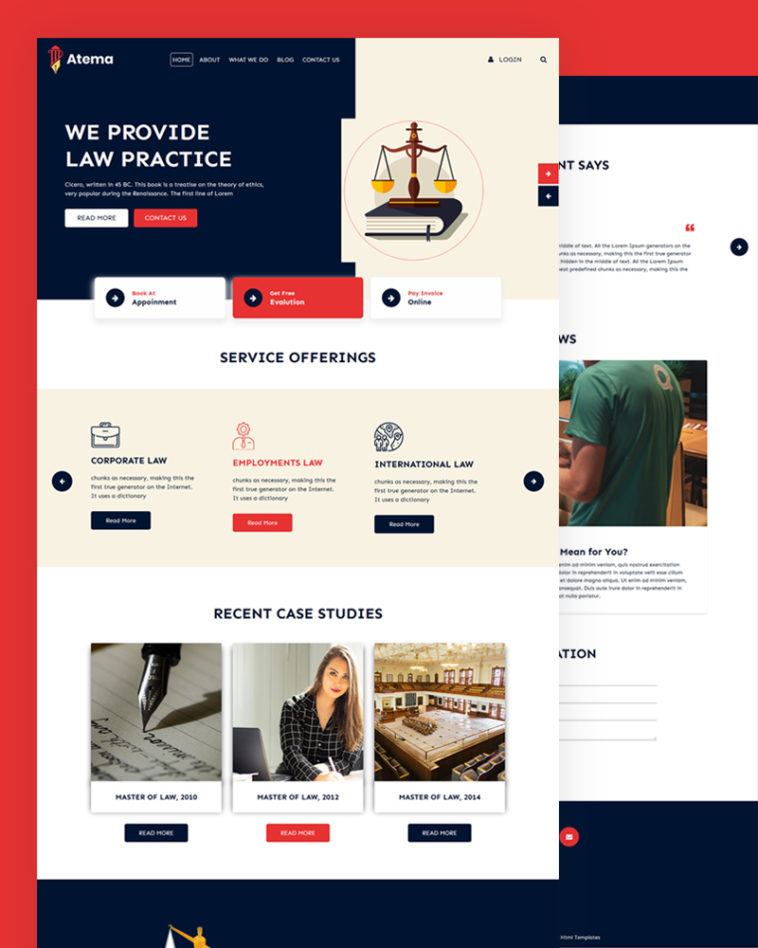 Law PSD Template Free Download