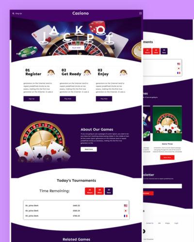 Casiono – Casino PSD Template Free Download