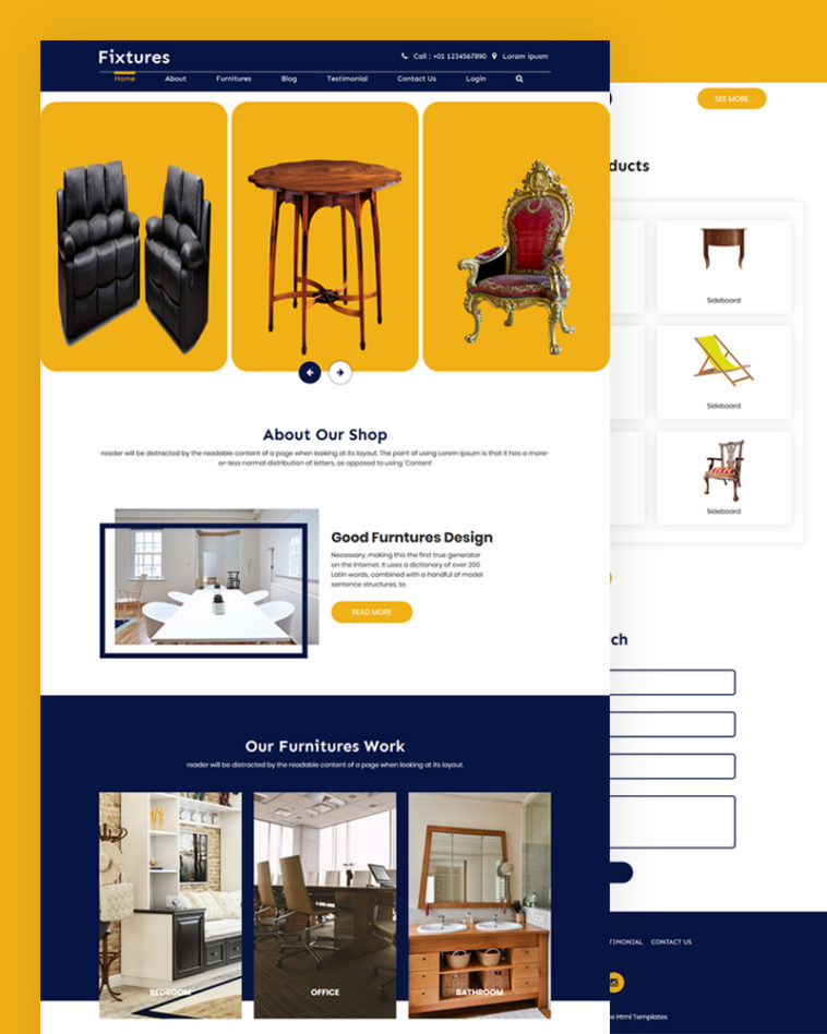 Furniture HTML Template Free Download