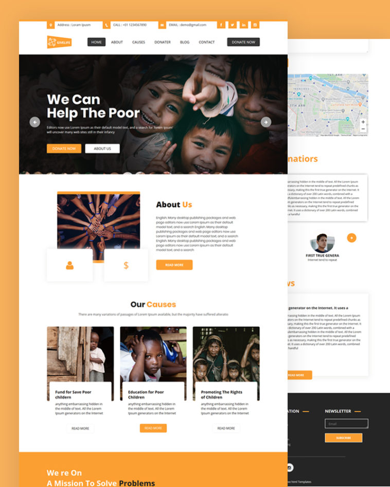 Free Charity HTML Template Download