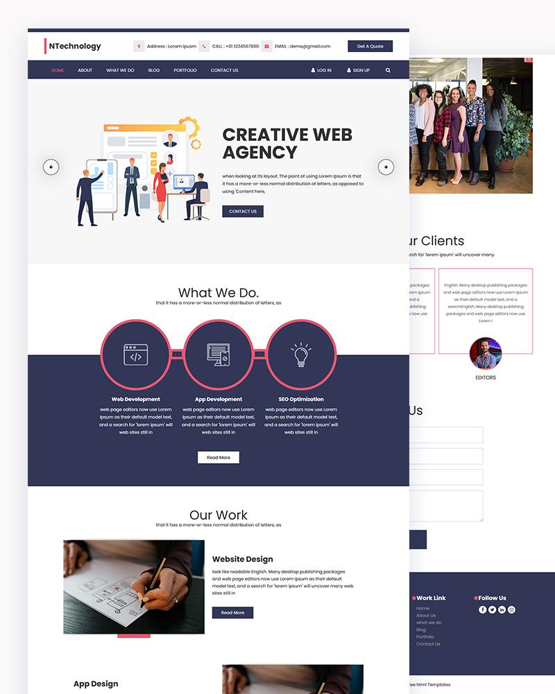 Ntechnology – Web Agency HTML Template
