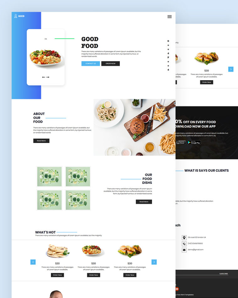Food PSD Template Free Download