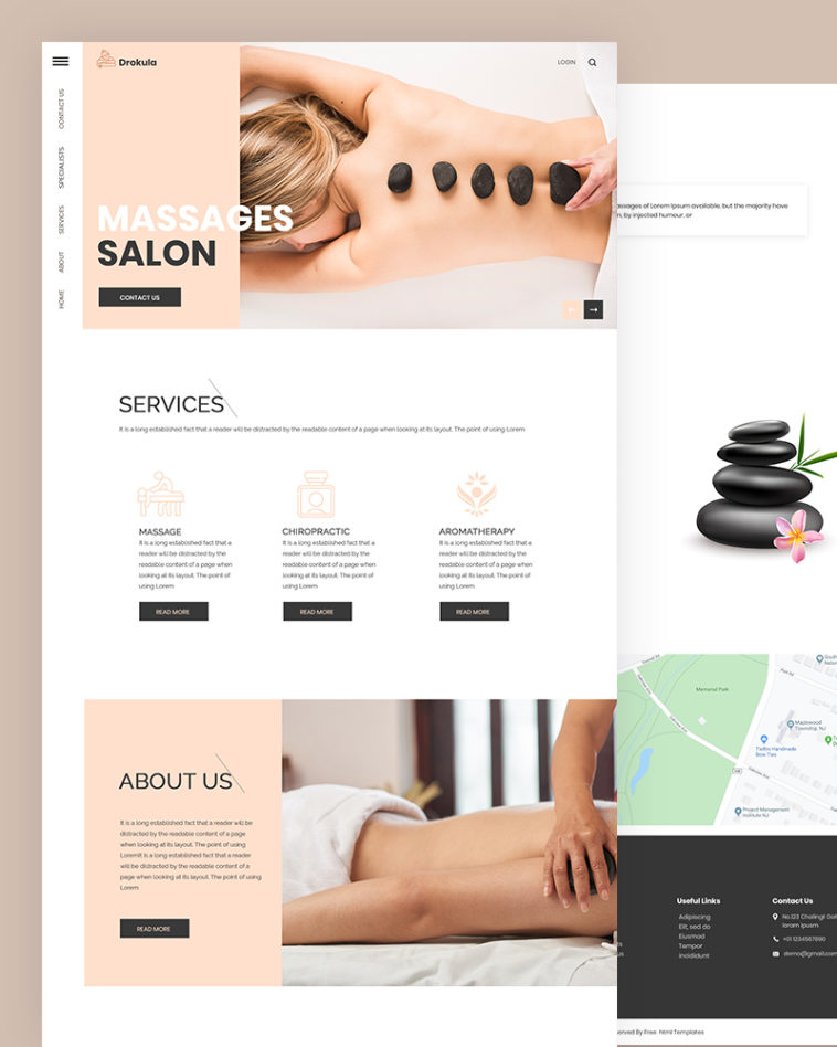 SPA and Salon HTML Template Free