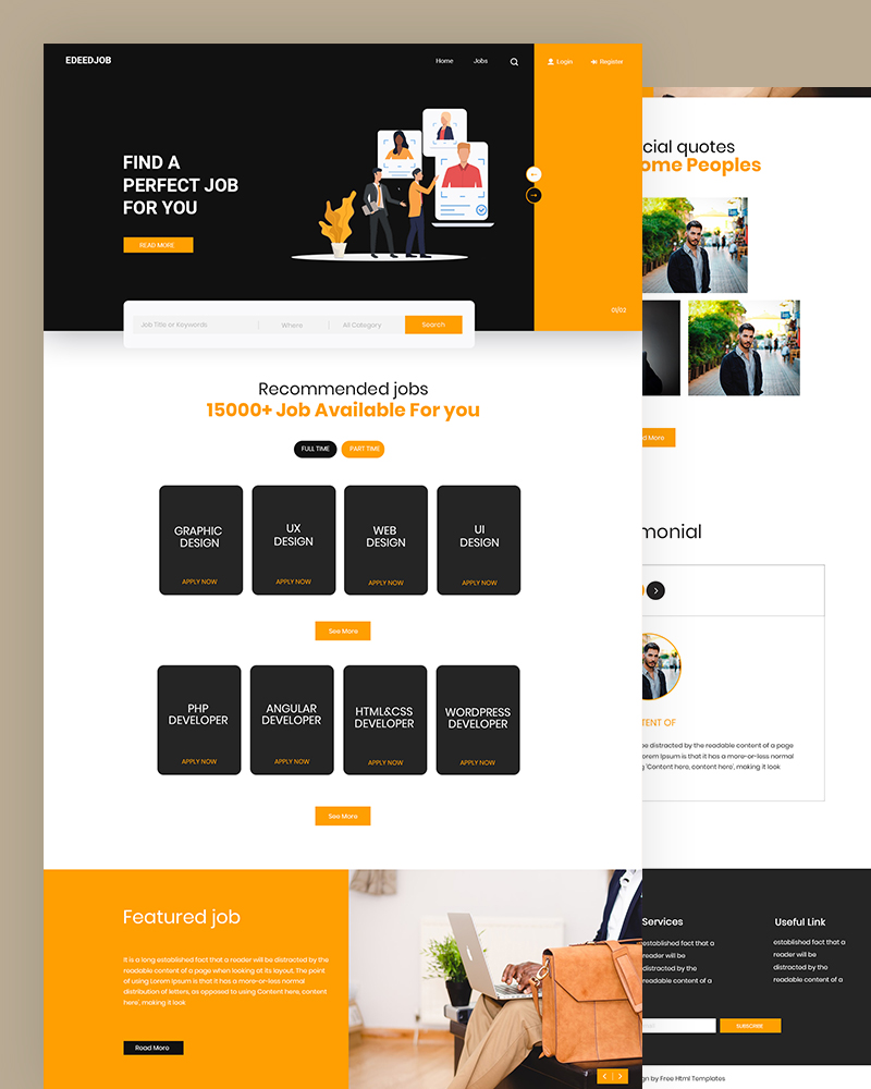 Edeedjob – Job Portal Website Template