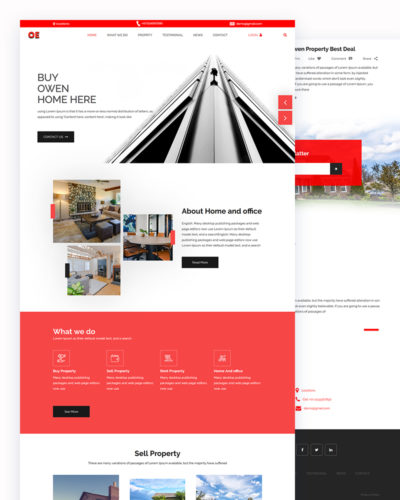 OE – Property PSD Template Free Download