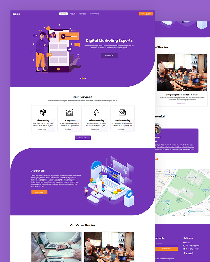 Digian – Free Digital Marketing HTML Template