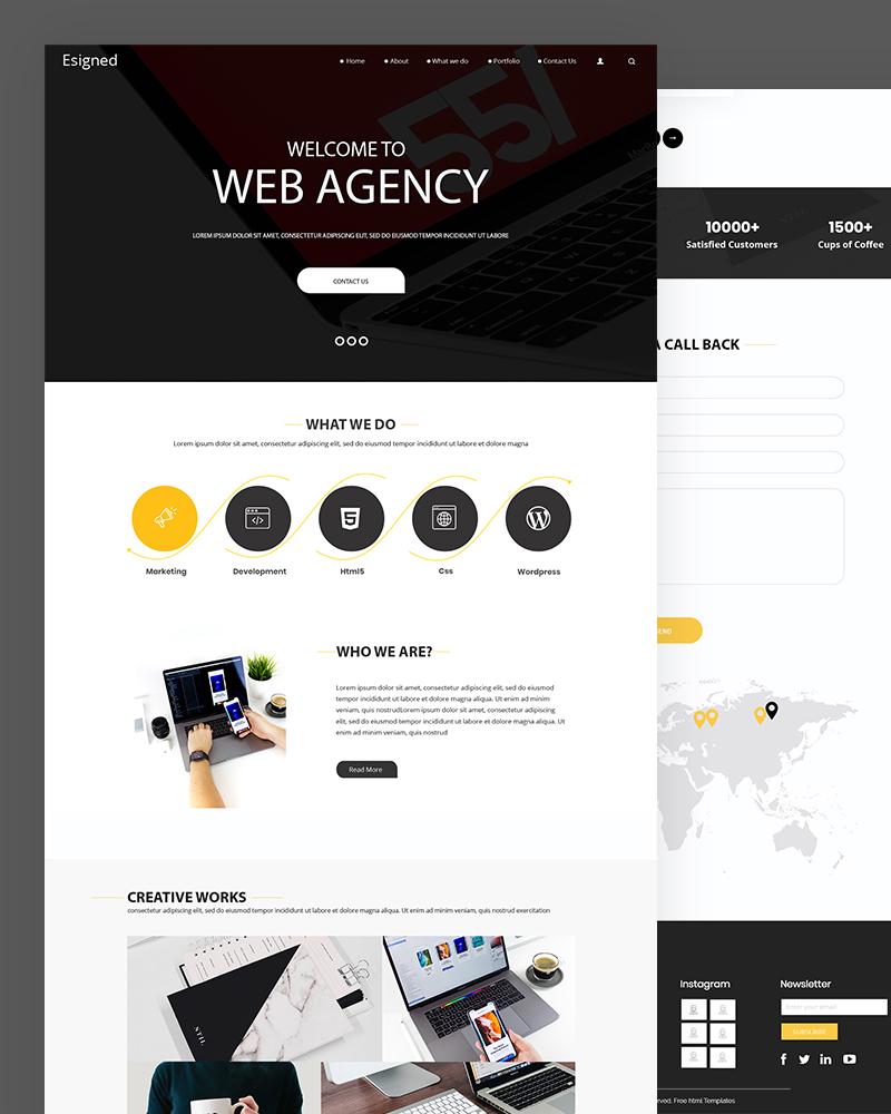 Esigned – Simple Web Agency Website Template