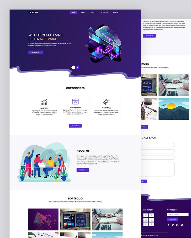 Techdor – Software Application HTML Template