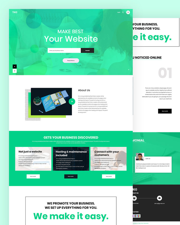 New Website PSD Template Free Download