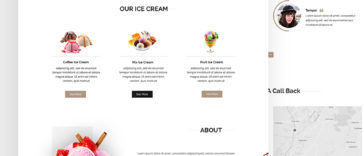 Download Ice Cream Shop PSD Template Free