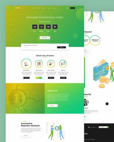 Cypo – Bitcoin PSD Template Free
