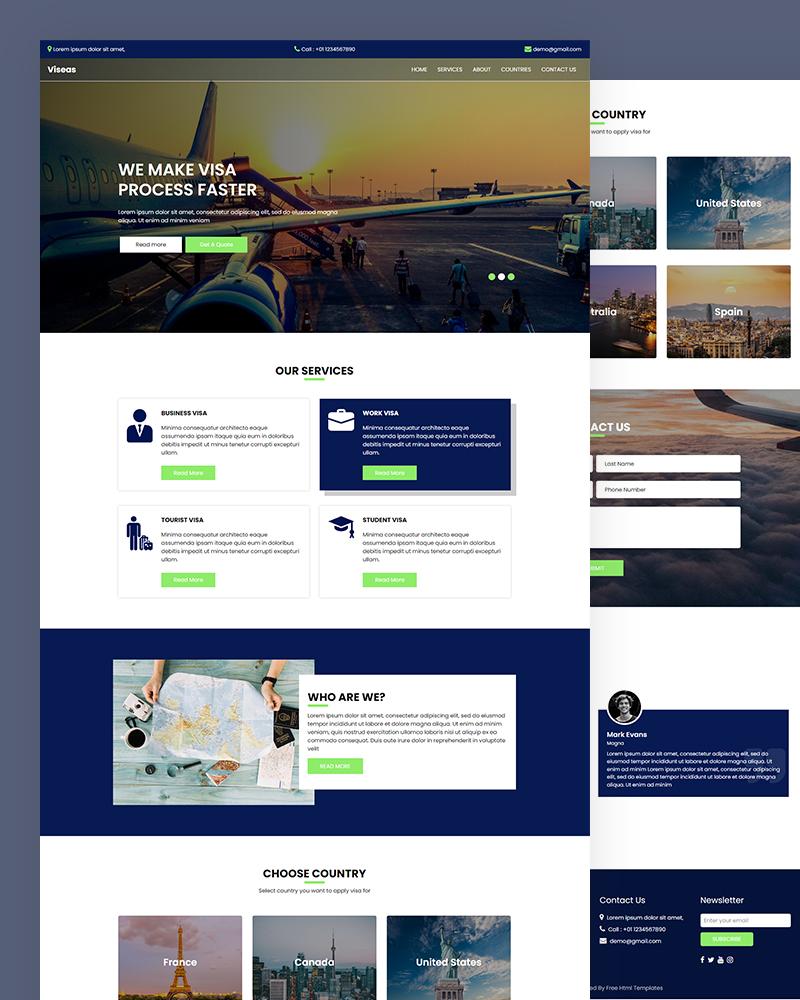Viseas – Visa Website Html Template Free Download