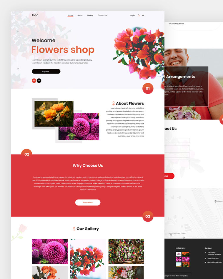 Fior – Flowers Shop HTML Template Free Download