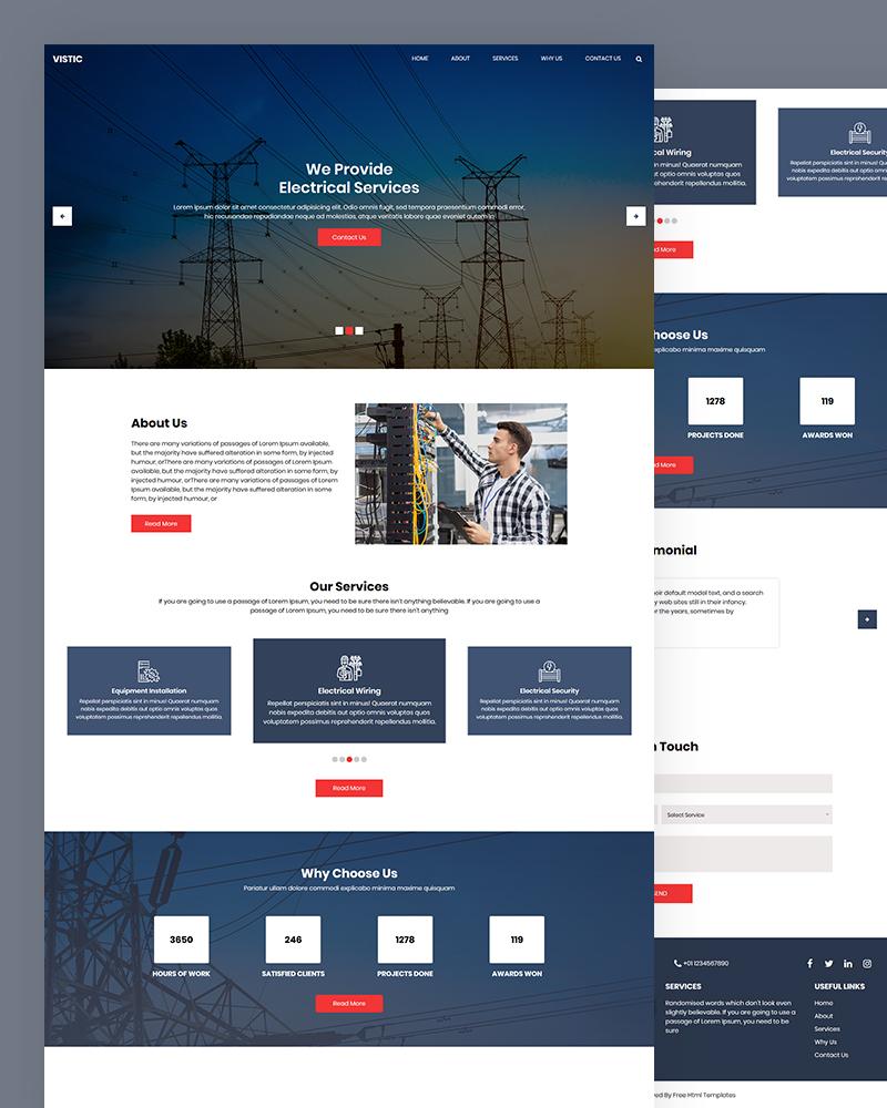 Vistic – Electrical HTML Website Template