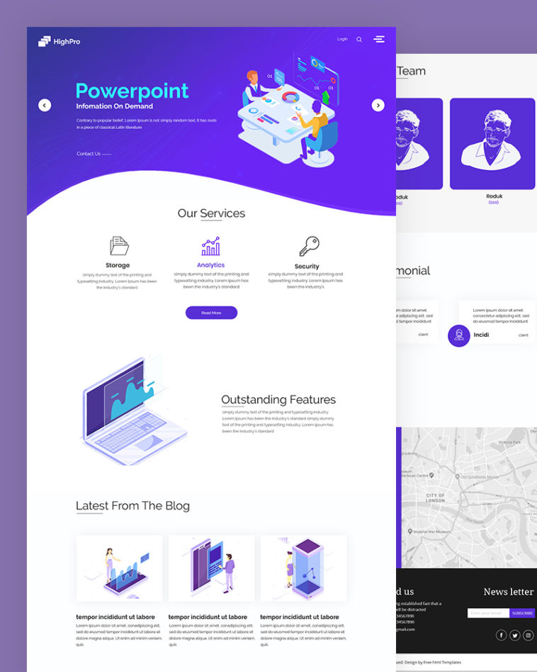 PowerPoint PSD Template Free