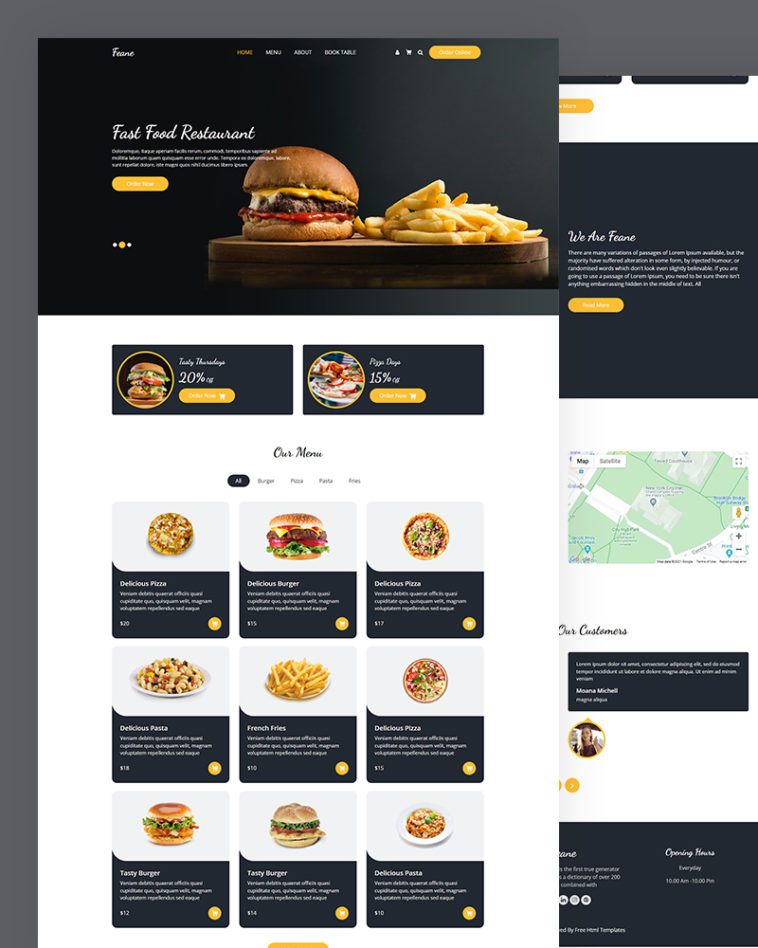 Fast Food HTML Template Free