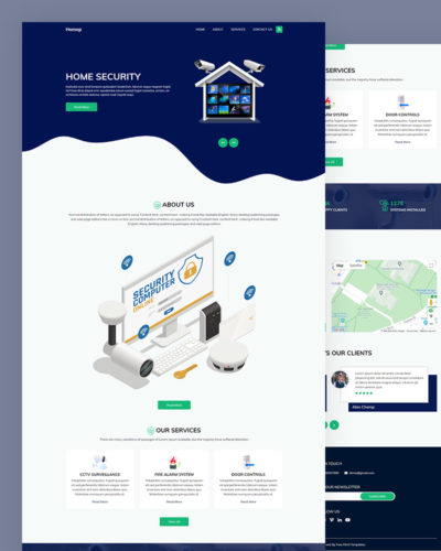 Home Security HTML Template Free