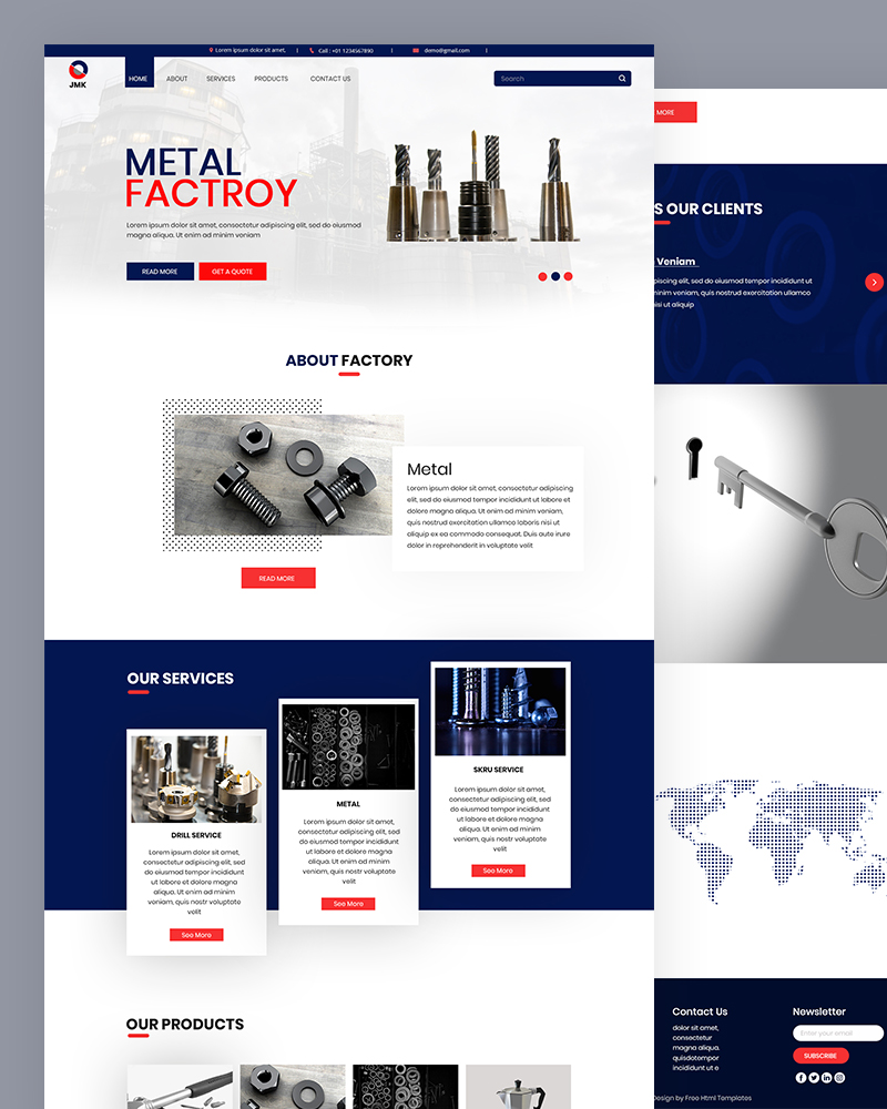 Jmk – Metal Factory HTML Template Free Download