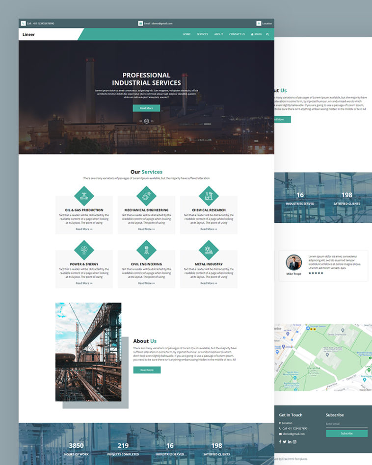 Industrial Services HTML Template Free