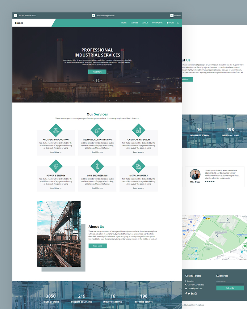 Lineer – Industrial Services HTML Template Free Download