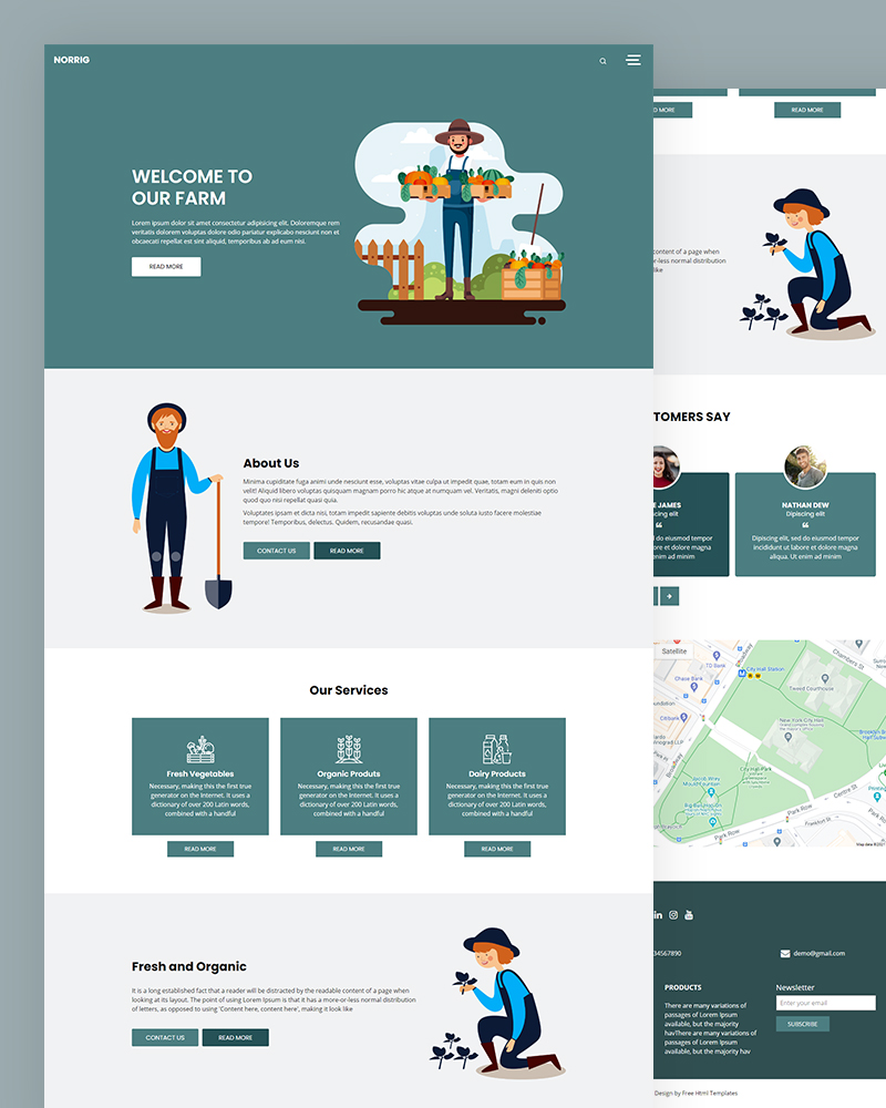 Norrig – Farm HTML Template Free Download
