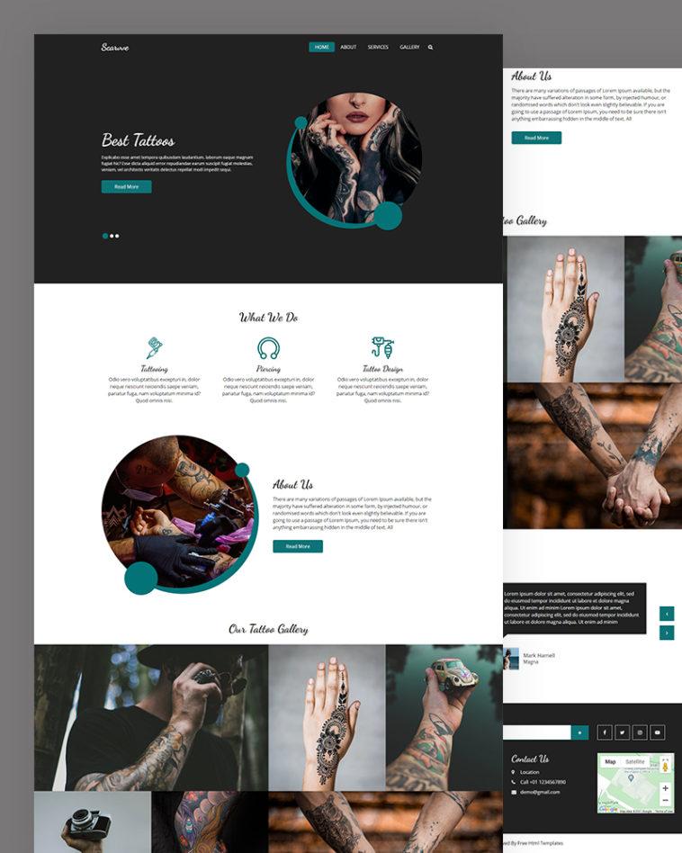 Tattoos HTML Website Template Free