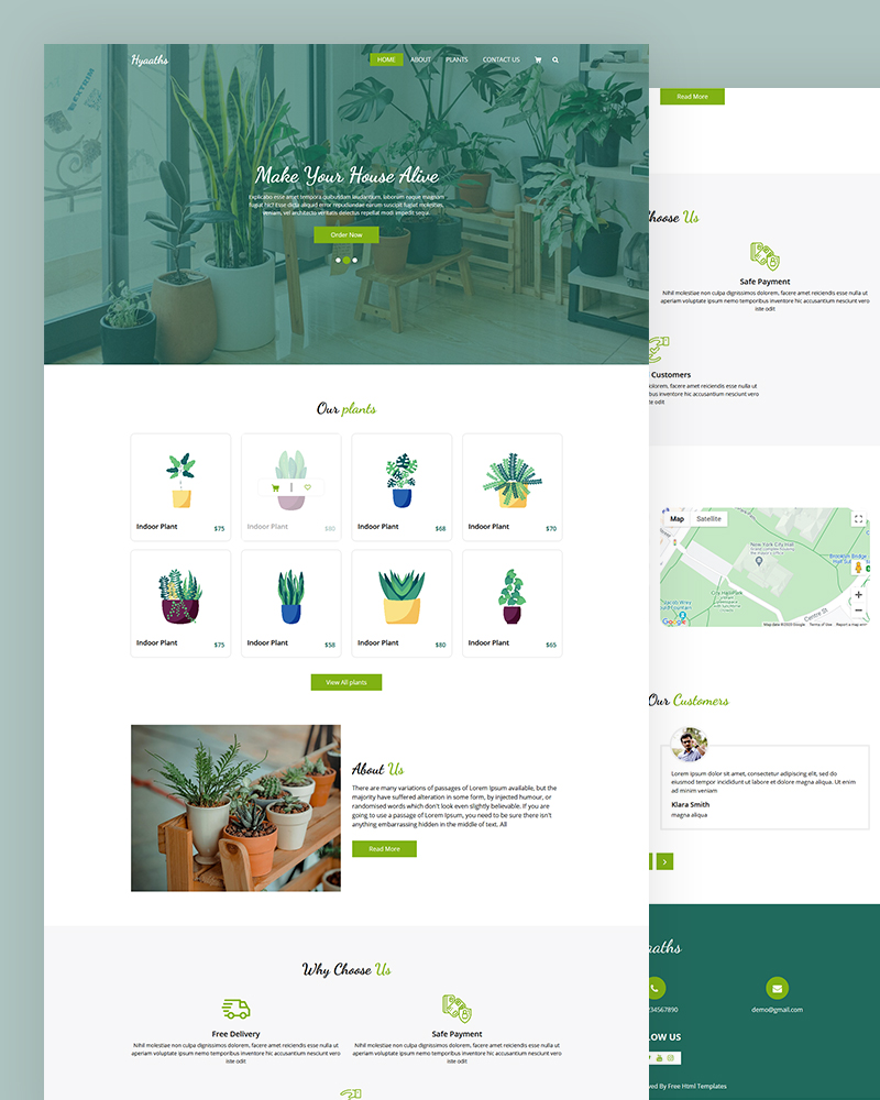 Hyaaths – House Plant HTML Template Free Download