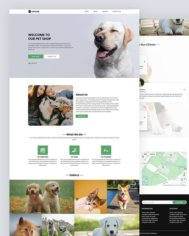 Petlor – Pet Shop HTML Template Free Download