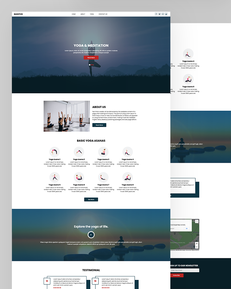 Yoga HTML Template Free Download