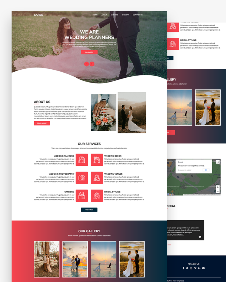 Wedding Planners HTML Template Free
